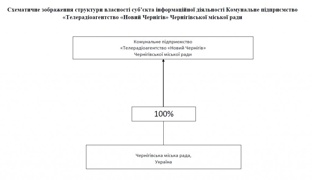 Схематичне зображення структури власності Телеканал Новий Чернігів